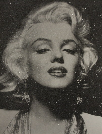 Russell Young - Marilyne Monroe portrait - Diamond -