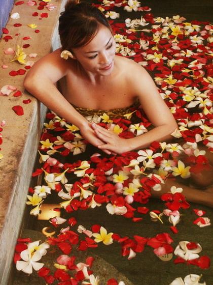 flower bath -