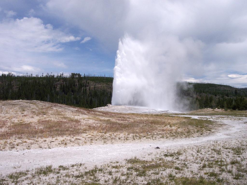 Old Faithful Geyser Yellowstone National Park -