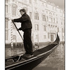 Venetian Gondolier - Black & White and Sepia