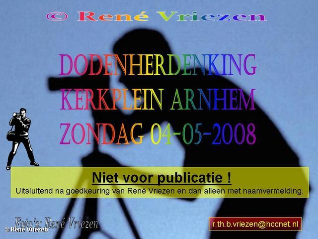 René Vriezen 2008-05-04 #0000 Dodenherdenking Kerkplein Arnhem zondag 4 mei 2008