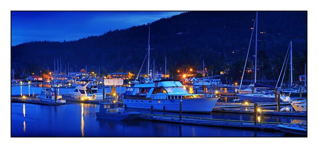 SaltSpring Ganges Night British Columbia Canada