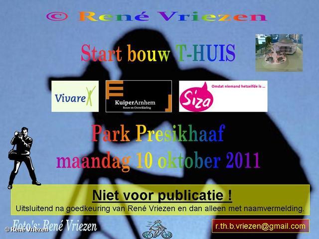 René Vriezen 2011-10-10#0000 T-Huis Start bouw Park Presikhaaf maandag 10 oktober 2011