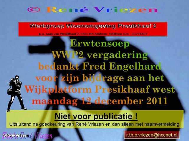 René Vriezen 2011-12-12#0000 WWP 2 Erwtensoep laatste vergadering 2011 en Bedankt Fred S. Wijkplatform Presikhaaf 12 december 2011