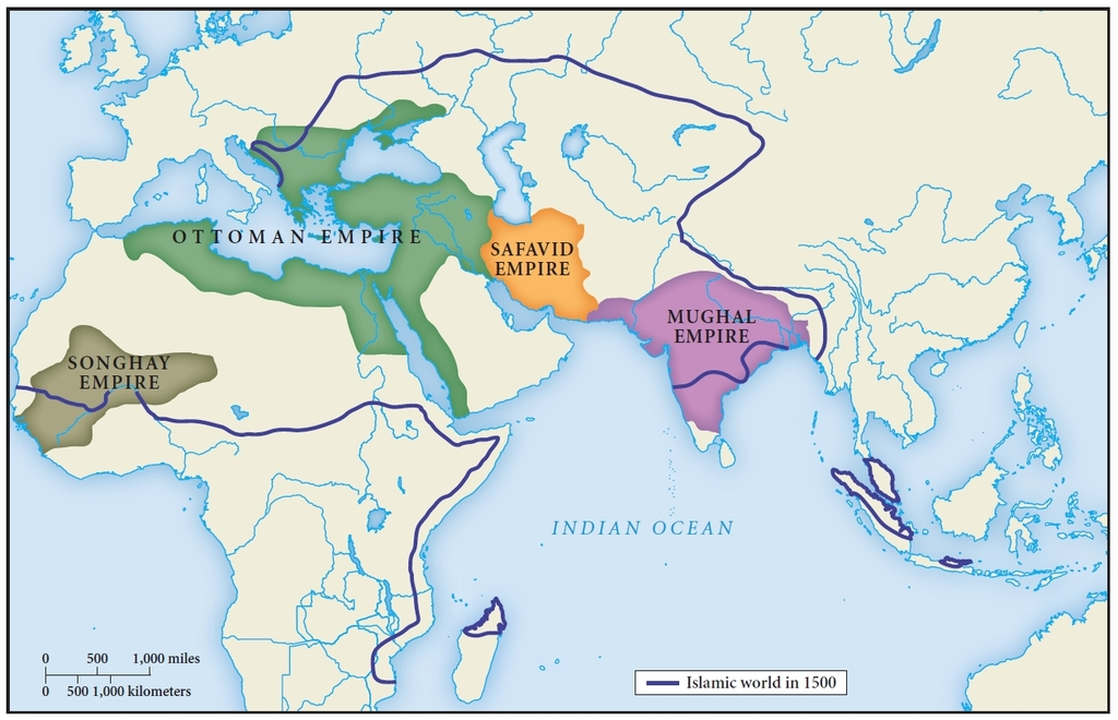 Ottomans and mughals empire