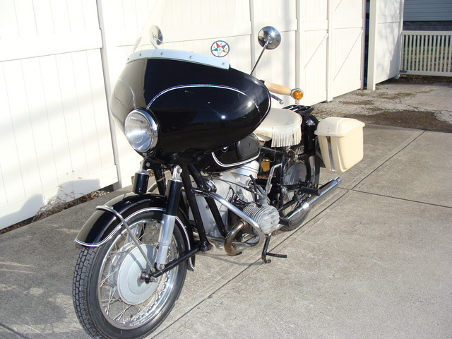 644760 '69 R75-2 Black-White 001 SOLD.....#644760 '69 BMW R50/2 Black & White. Fairing, Bags, Solo Seat. 13,900 Miles VGC