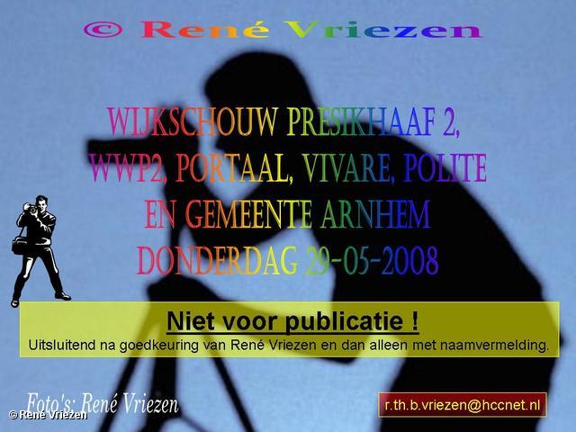 René Vriezen 2008-05-29 #0000 WWP2 Wijkschouw Presikhaaf-2 Portaal, Vivare, Politie en Gem. Arnhem 29-05-2008
