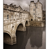 Bath Pulteney Bridge - Black & White and Sepia