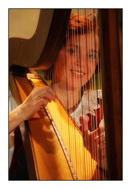 Innsbruck Harp Player Austria