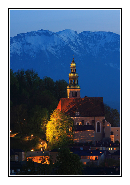 Salzburg at nite Austria