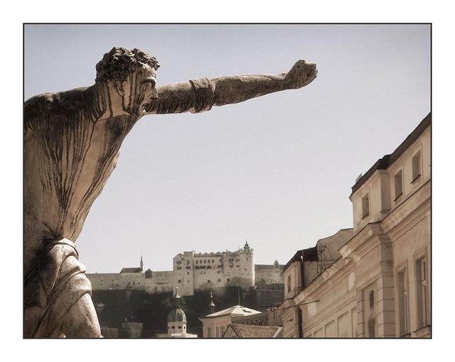 Salzburg statue Austria
