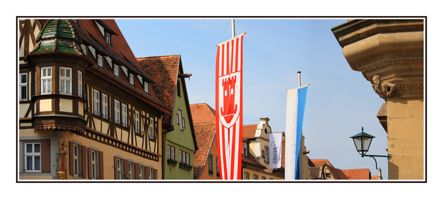 Rothenburg flags Germany