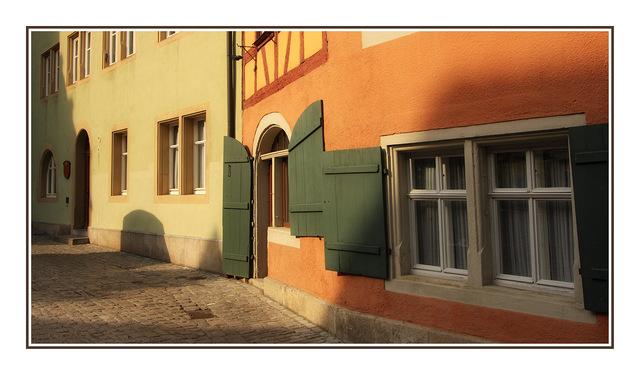Rothenburg street Germany