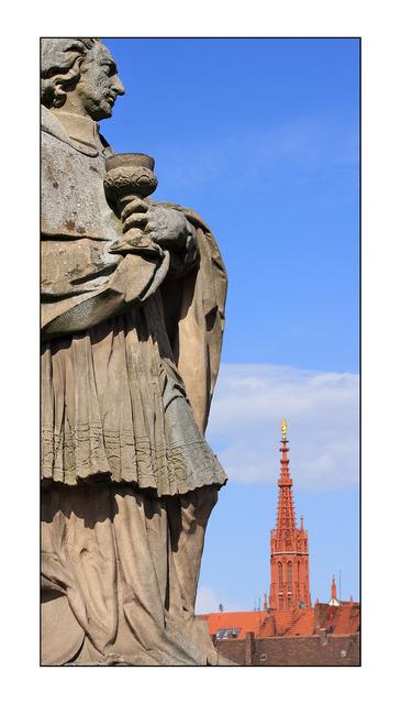 Wurzburg Statue Germany