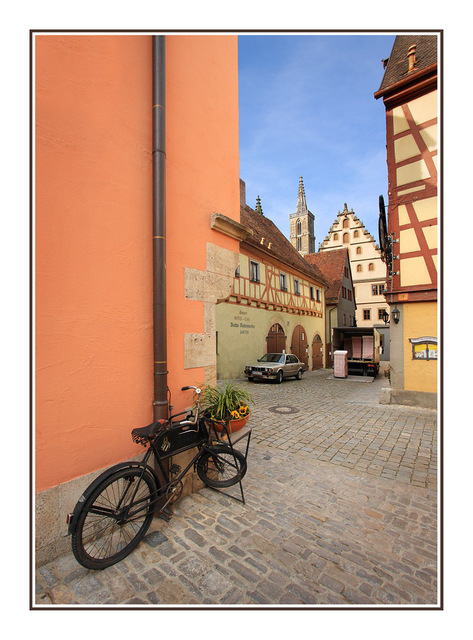 Rothenburg bicycle Germany
