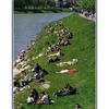 Salzburg river bank - Austria & Germany Panoramas