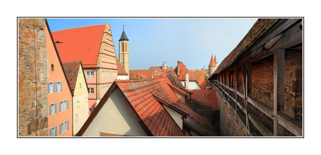 Rothenburg Rooftops Austria & Germany Panoramas
