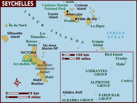 SEYCHELLESTOURIST DESTINATION WITH INDIAN ROOTS Mudraacom - Seychelles victoria map indian ocean