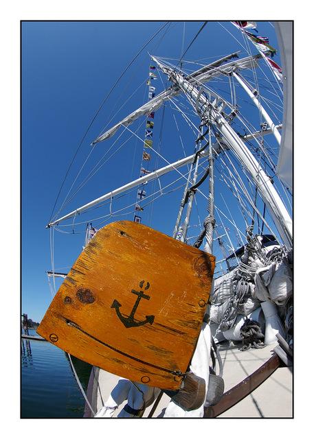Tall Ship fisheye Vancouver Island
