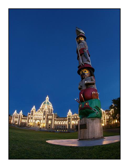 Victoria Totem Vancouver Island