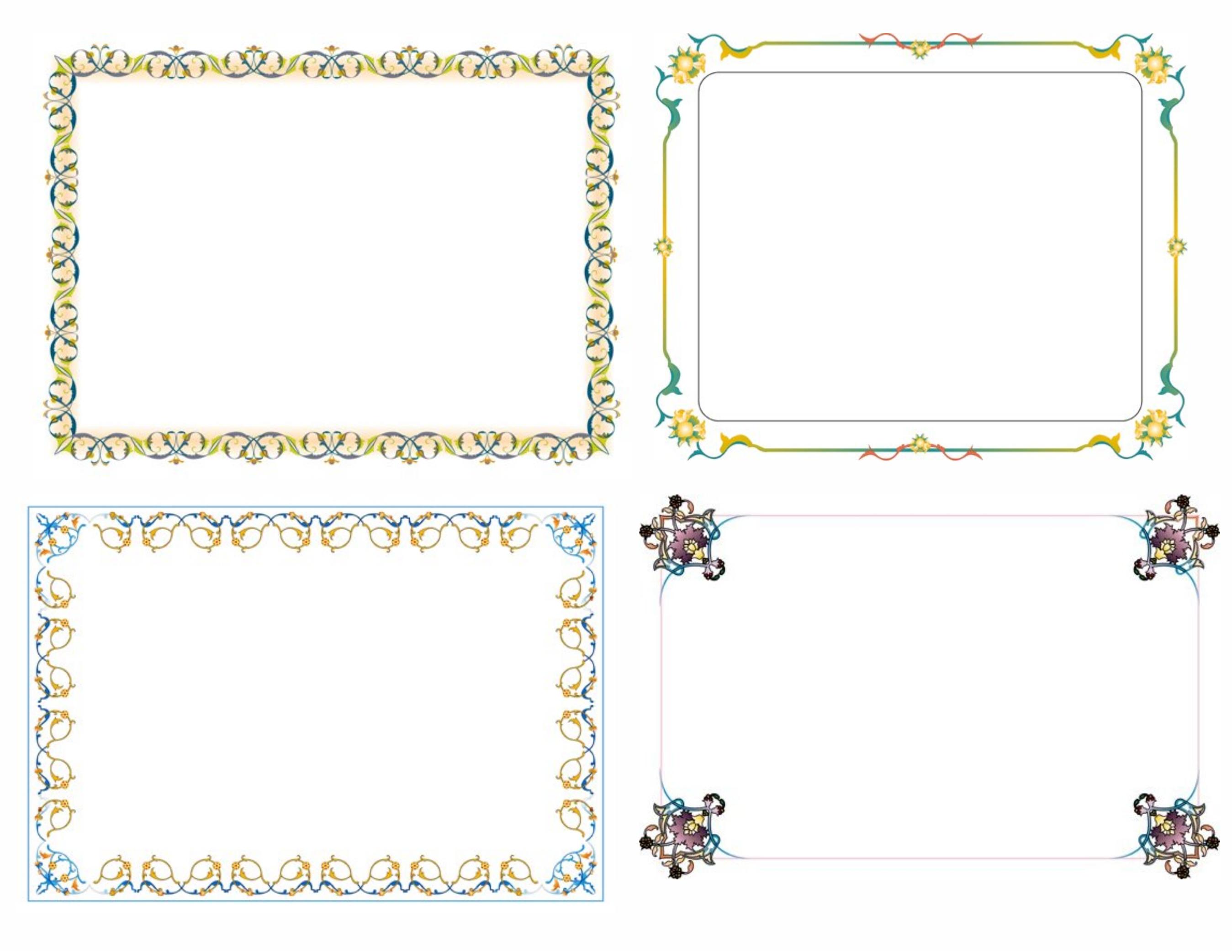 Frame Undangan Sederhana Gambar Download Border