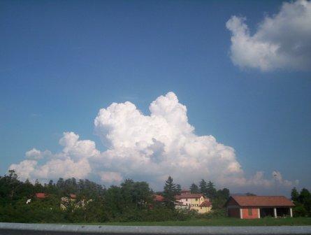 Cumulus congestus -